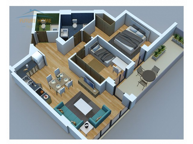 Shitet, Apartament 2+1, Rezidenca Alba...