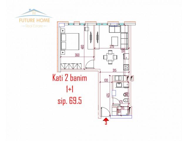 Apartament 1+1 për shitje Rru...