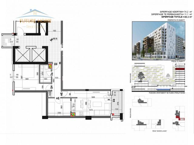 Shitet, Apartament 2+1, Rruga e Kavajes...