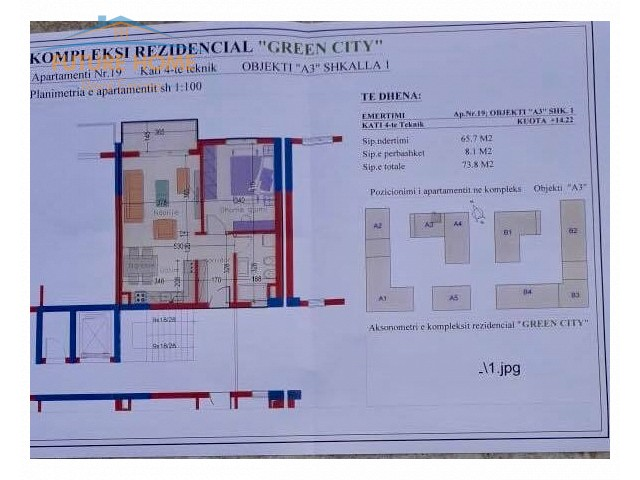 Apartament 1+1,Green City...