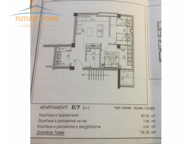 Shitet Apartament 2+1 tek Medr...
