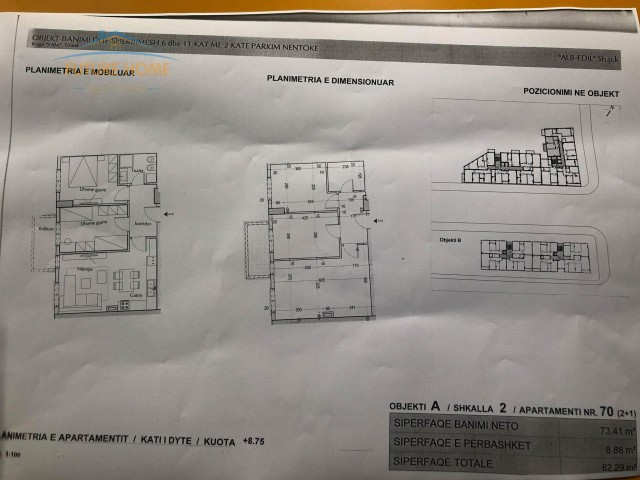 Shitet,Apartament 2+1,Rruga 5 ...