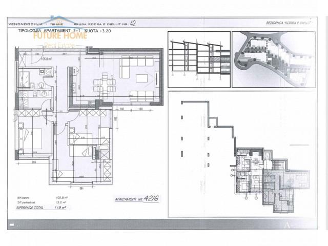 Apartament 3+1 Rezidenca Kodra e Diellit...