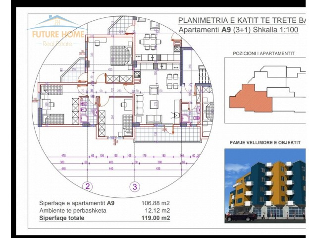 For Sale, Apartment 3 + 1, Fre...