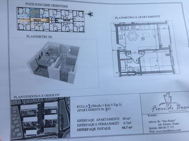 Apartament për shitje Fiori Di Bosko...