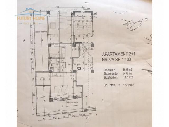 Apartament 2+1 për shitje, Rr...