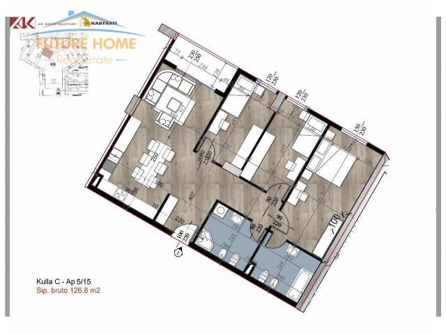 Shitet,Apartament 3+1,Garden Residence Turdiu...
