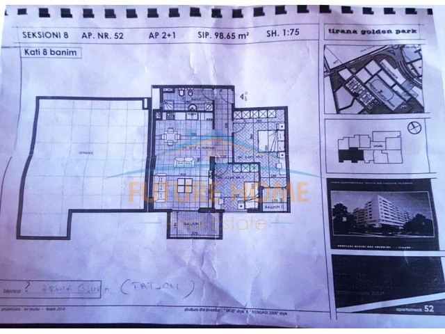 Apartament 2+1 , Pallati me Shigjeta...