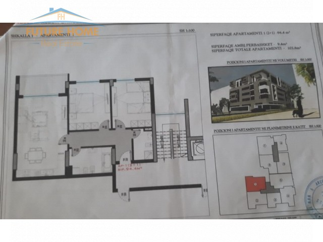 Shitet,Apartament 2+1,Kthesa E Kamzes...