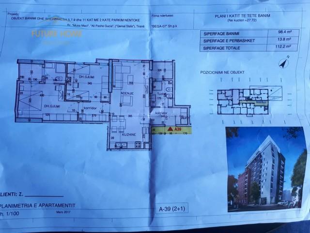 For Sale, Apartment 2 + 1, Partizani School...
