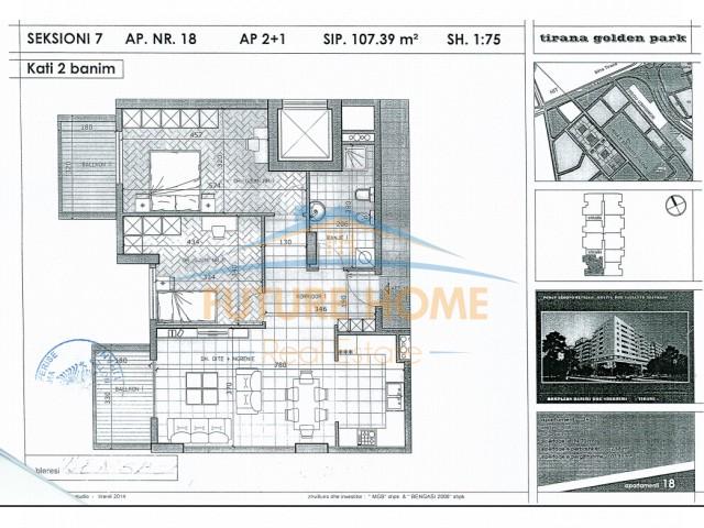 Apartament 2+1 , Pallati Me Sh...